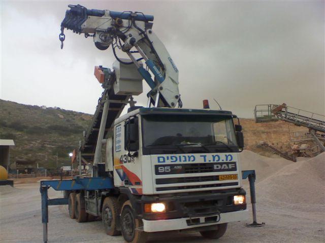 עבודות עם מנוף משאית