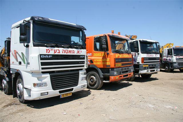 עבודות עם משאית מנוף