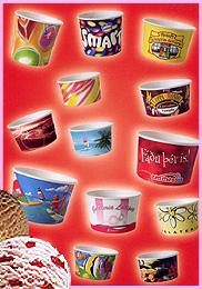 כוסות ממותגות לגלידה
