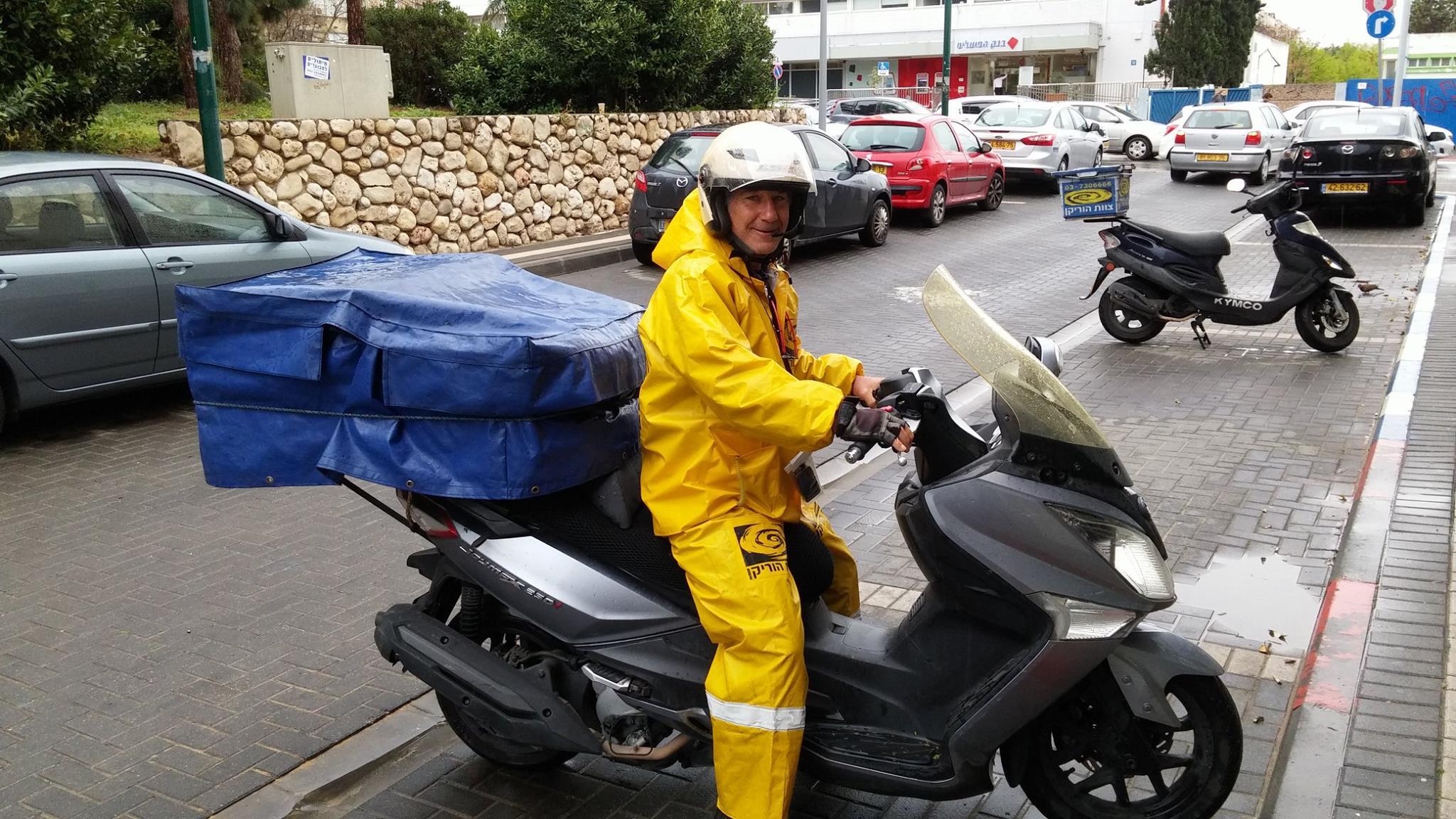 שליחויות גם בתנאי מזג אוויר קשים