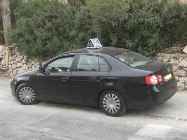 לימוד נהיגה על רכב פרטי