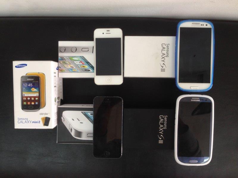 מכירת מגוון טלפונים סלולאריים