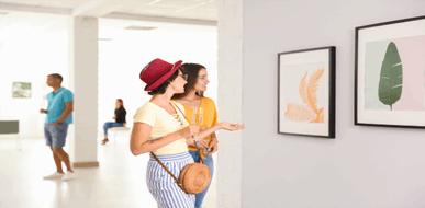 ביקור בגלריה - תמונת המחשה