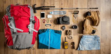 רשימת ציוד לטיול: כל מה שאתם צריכים לקחת אתכם - תמונת המחשה