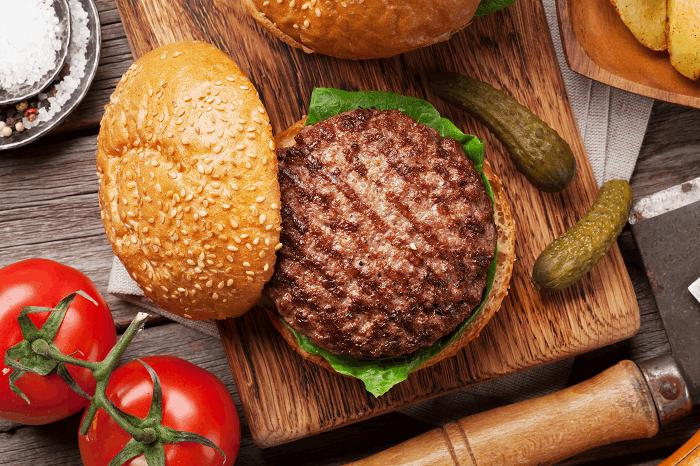 מידות עשייה המבורגר: תמונה להמחשה