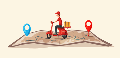עוברים דירה, אוכלים בבית:  משלוחי אוכל בכל הארץ - תמונת המחשה