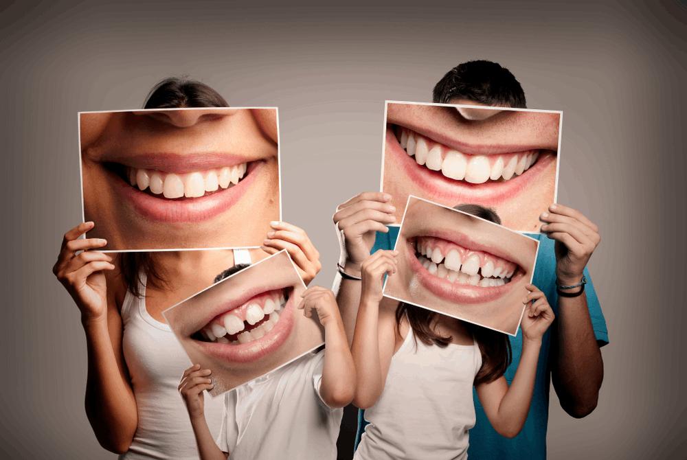 משפחה עם תמונות שיניים