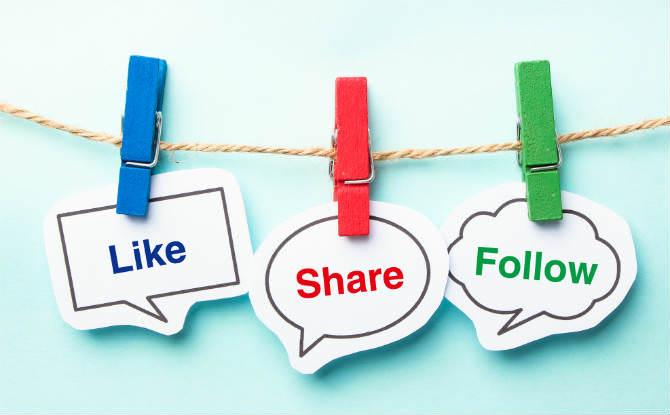 סימנים ברשתות חברתיות