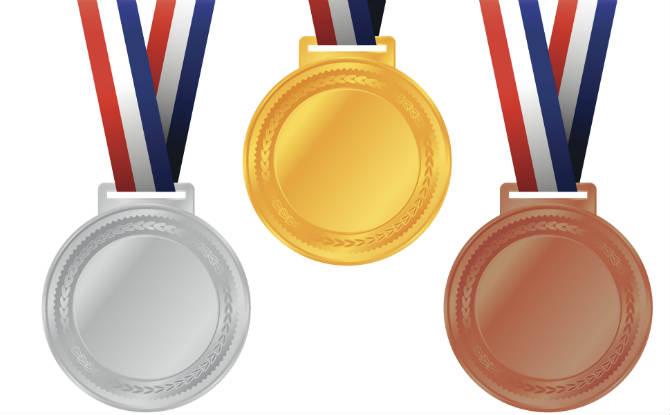 מדליית זהב, ארד וכסף