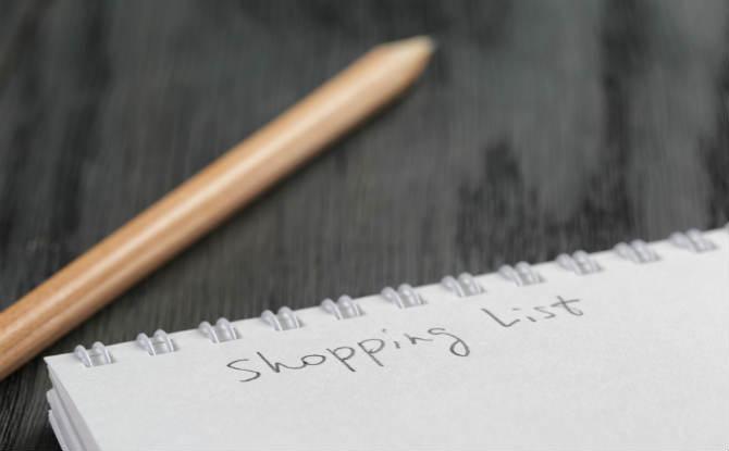 רשימת קניות
